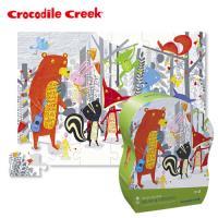 【美國Crocodile Creek】大型地板拼圖系列-森林小學堂