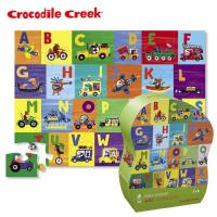 【美國Crocodile Creek】大型地板拼圖系列-交通ABC