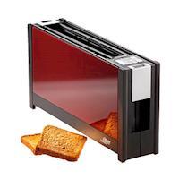 (德國原裝)ritter volcano 5 晶湛強化玻璃烤麵包機 明紅