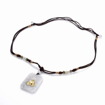 【PIAVEN珠寶】翡翠鑽石玉鑲金觀音吊墜