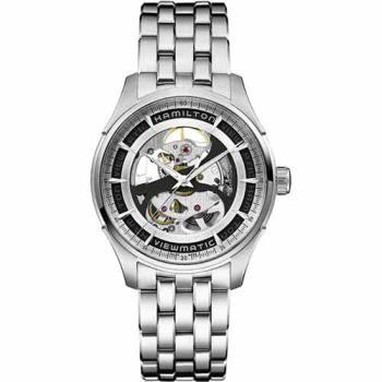 Hamilton VIEWMATIC爵士系列全鏤空紳士機械腕錶-銀/40mm H42555151