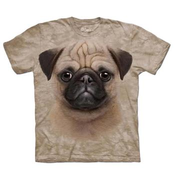【摩達客】(預購) (男童/女童裝)美國進口 The Mountain 小巴哥犬 純棉環保短袖T恤