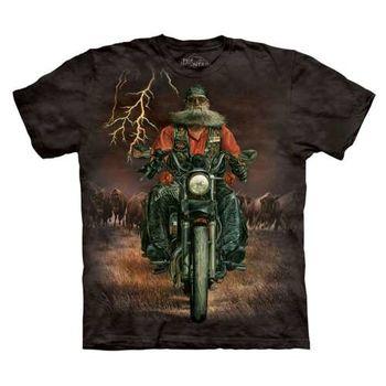 【摩達客】(預購)美國進口The Mountain 哈雷騎士 純棉環保短袖T恤