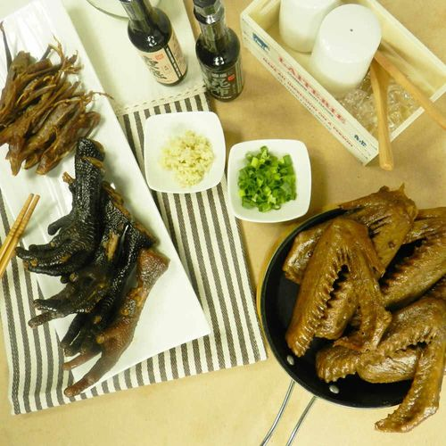 【好神】主廚特調醬汁天香滷味12包組(土雞腳/鴨翅/鴨舌/豆干各3包)