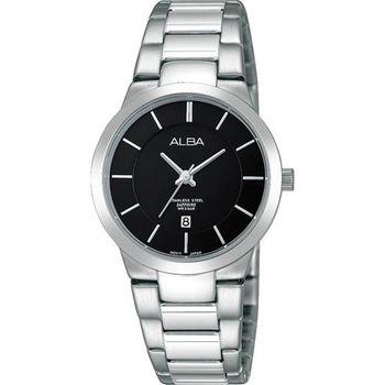 ALBA PRESTIGE 日系純粹時尚腕錶-黑/30mm VJ22-X185D(AH7E81X1)