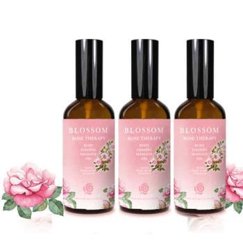 【BLOSSOM】玫瑰植萃勻體曲線緊緻修護按摩油(100ML/瓶  共3瓶)
