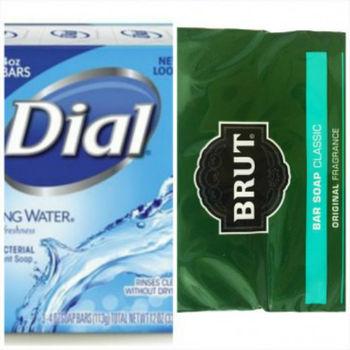 Brut男士傳統古龍水香皂(3.5oz*2)*3+Dial Spring Water礦泉抗菌香皂(113g*3/組)*3
