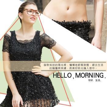A+CourBe 韓系優雅蕾絲美胸內衣 3件+冰絲微雕蕾絲褲 3件(共6件)