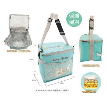 【安妮兔】大容量20瓶易開罐裝保溫保冷野餐袋 附網 (買一送一) 143Y-2511W