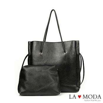 La Moda 品牌專屬系列 正韓版長型子母托特包 (共3色)