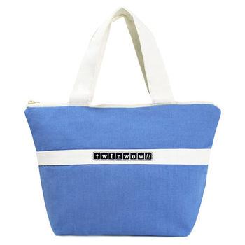 twinwow-優美典雅-細緻質感手提包-天空藍白
