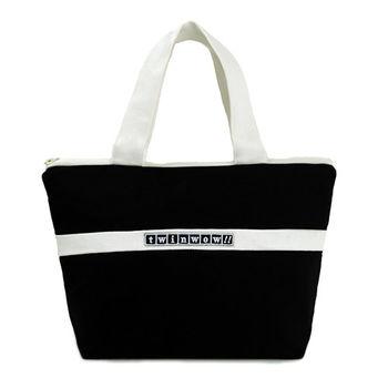 twinwow-優美典雅-細緻質感手提包-時尚黑白