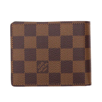 LV N61208 Slender 棋盤格紋雙折短夾 現貨