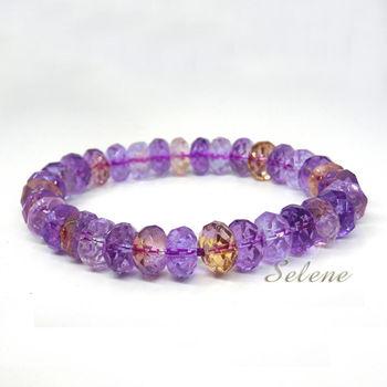【Selene 珠寶】天然切角紫黃晶手珠(特A等級限量)