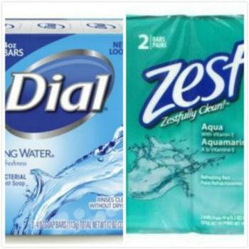 Dial Spring Water礦泉抗菌香皂(113g*3/組)*4 +Zest除汗味香皂維他命E(3.2oz/90g)*2/組*6