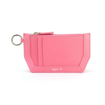 agnes b.船型防刮零錢卡片鑰匙圈(粉紅)