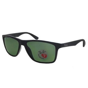 【Ray Ban 雷朋】RB4234F-601/9A_超輕x防滑鏡腳設計-偏光款太陽眼鏡(亮黑框#雷朋綠鏡)