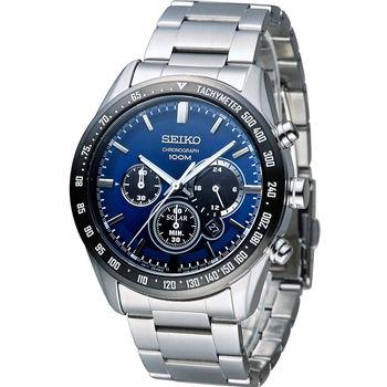 SEIKO Criteria 極速狂風太陽能計時腕錶 V175-0DK0B SSC465P1