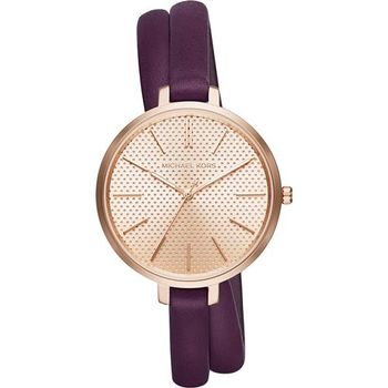 Michael Kors 時尚伸展台環繞式腕錶-玫塊金x紫/38mm MK2576