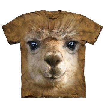 【摩達客】(預購)美國進口The Mountain 羊駝草泥馬臉 純棉環保短袖T恤