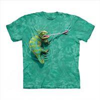 【摩達客】(預購)美國進口The Mountain 攀岩變色龍 純棉環保短袖T恤