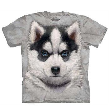 【摩達客】(預購)美國進口The Mountain 小哈士奇犬 純棉環保短袖T恤