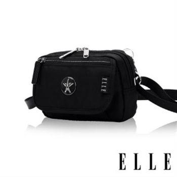 【ELLE】法式優雅時尚 旅行隨身收納包/票券包/手機包(黑色 EL83472-02)