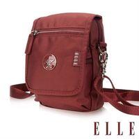 【ELLE】法式優雅時尚 旅行隨身收納包/票券包/手機包(酒紅 EL83473-80)