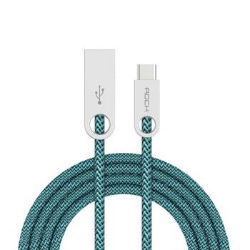 【ROCK】鵝卵石鋅合金Type-C編織傳輸線 正反可插 USB-C接口 編織線 數據線