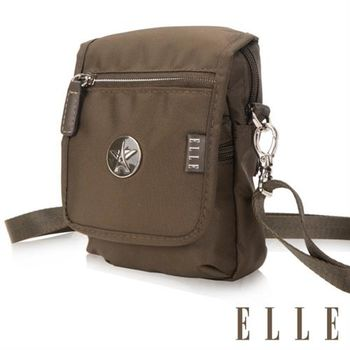 【ELLE】法式優雅時尚 旅行隨身收納包/票券包/手機包(叢林綠 EL83473-04)