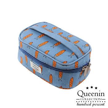 DF Queenin - 韓版可愛卡通圖案化妝包收納包-共2色