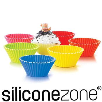 【Siliconezone】8.5cm施理康耐熱造型杯子蛋糕模(6入裝)