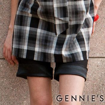 【Gennies奇妮】休閒簡約反摺春夏孕婦短褲(C4114)