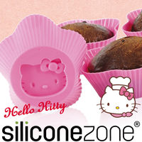 【Siliconezone】施理康Hello Kitty杯子蛋糕模-粉色
