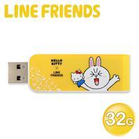 Apacer宇瞻AH334 Kitty X Line派對聯名碟 32GB兔兔黃(AH334Y)
