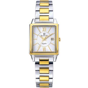 Olympia Star 奧林比亞之星-經典時尚羅馬方型腕錶-雙色/25mm  58065LSK