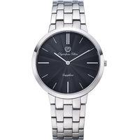 Olympia Star 奧林比亞之星-時尚水波紋腕錶-黑/40mm 58060MS
