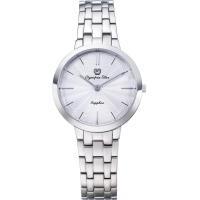 Olympia Star 奧林比亞之星-時尚水波紋腕錶-白/34mm 58060LS