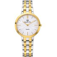 Olympia Star 奧林比亞之星-時尚水波紋腕錶-雙色/34mm 58060LSK