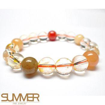 SUMMER寶石  開運配飾五行髮晶手珠 (隨機出貨)