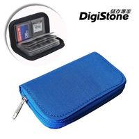 DigiStone 22片裝多功能記憶卡收納包(18SD+4CF)-藍X1P【防震/防潑水】【EVA防靜電材質】