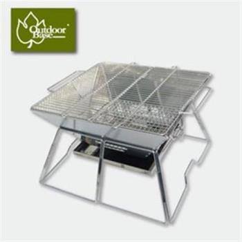 【Outdoorbase】焰舞不鏽鋼焚火台XL(食用級304烤網)-網 OB24974 烤肉 露營
