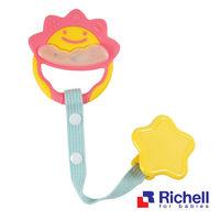 任-Richell日本利其爾 固齒器-粉紅色一般型(附固定夾)