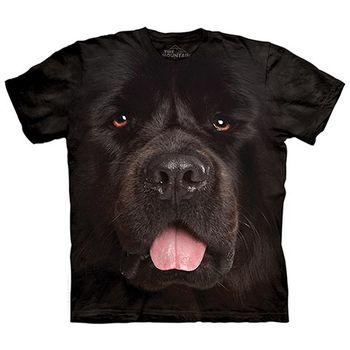 【摩達客】(預購)美國進口The Mountain 紐芬蘭犬臉 純棉環保短袖T恤
