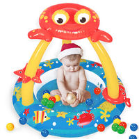 寶貝樂 螃蟹嬰兒充氣水池/游泳池