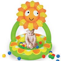 寶貝樂 小花嬰兒充氣水池/游泳池
