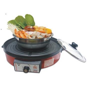 永新 分離式不沾黏烤盤火鍋 (YS-380)