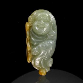 晉佳珠寶 Gemdealler Jewellery 天然緬甸  三彩翡翠歡喜笑彌勒佛