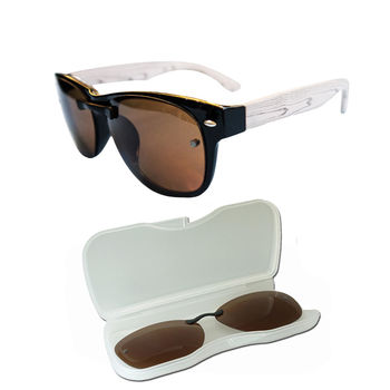 APOLLO-~日本偏光鏡+濾藍光眼鏡-白樺木/圓框