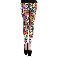 【摩達客】英國進口義大利製Pamela Mann Ava彩色骷髏 彈性內搭褲打底褲鉛筆褲